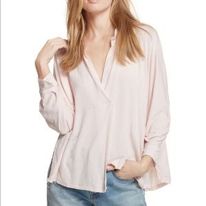 Free People   Can't Fool Me Top In Peach Pink XS